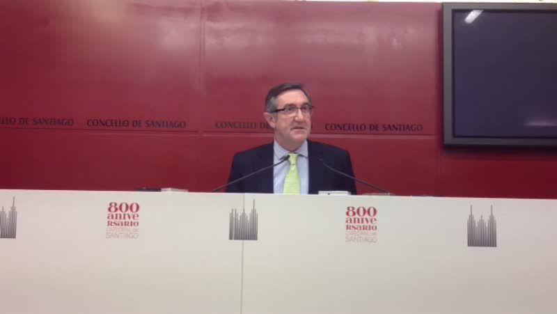 Rueda de prensa del alcalde de Santiago, Ángel Currás, tras ser imputado en la operación Pokemon.Ángel Currás, en los juzgados de Lugo