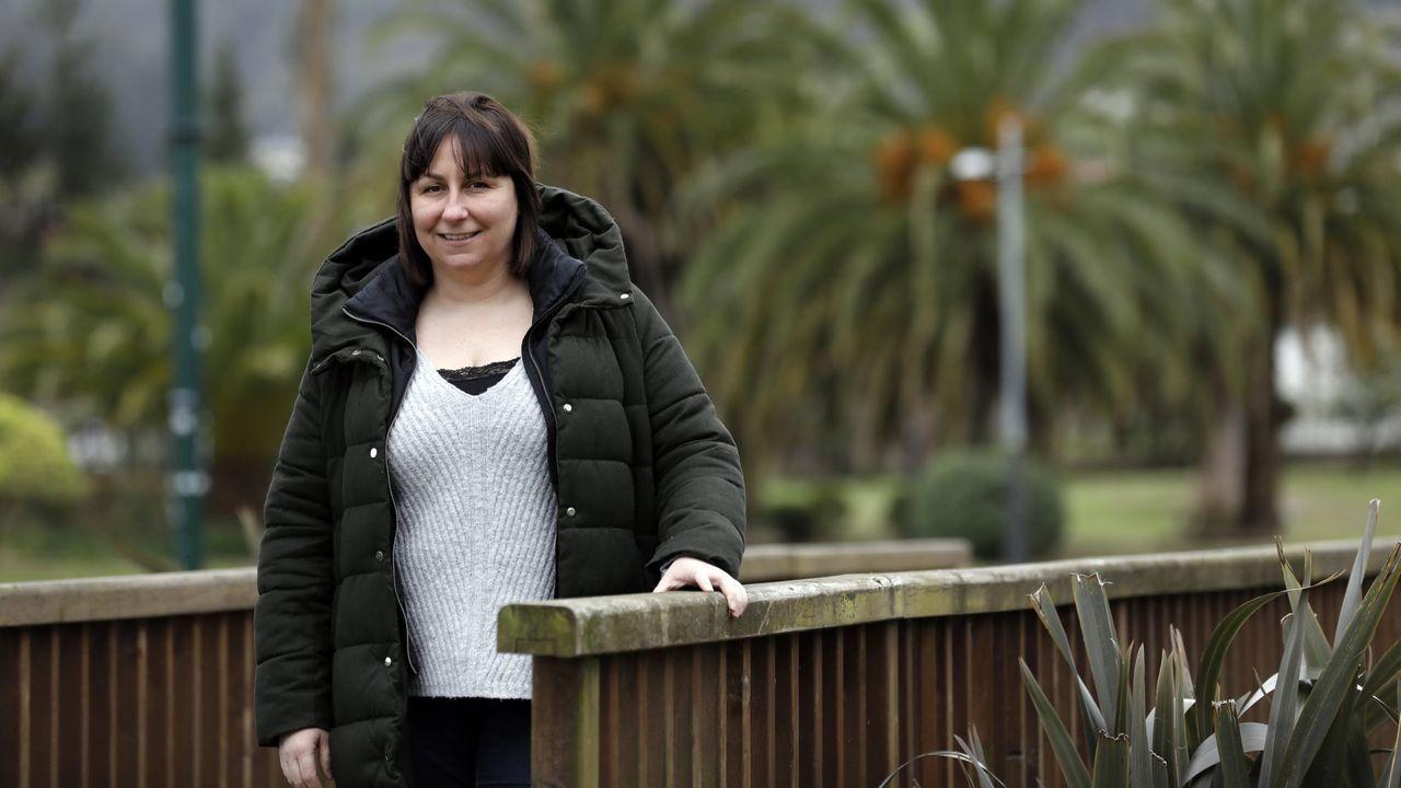 Cira Insua Martínez, en el parque Pernas Peón, en Viveiro, poco antes del inicio del estado de alarma por el covid-19