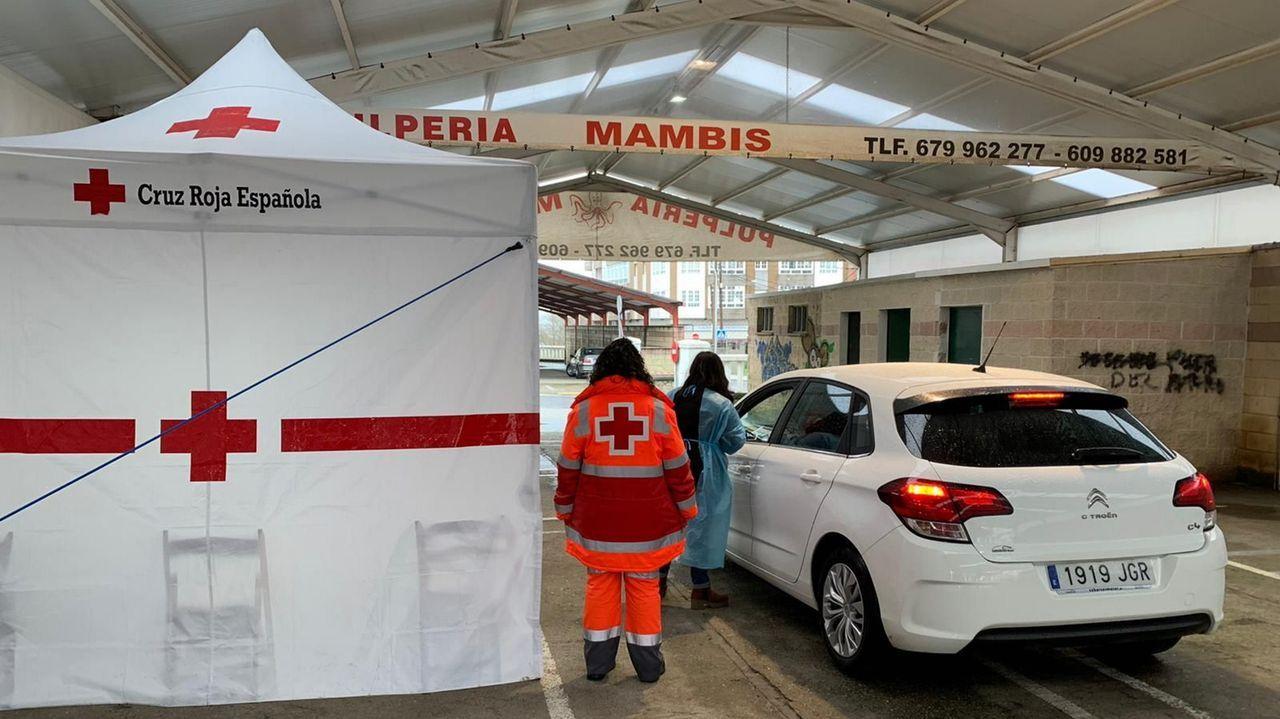 Cruz Roja también colaboró en el cribado de Vilalba