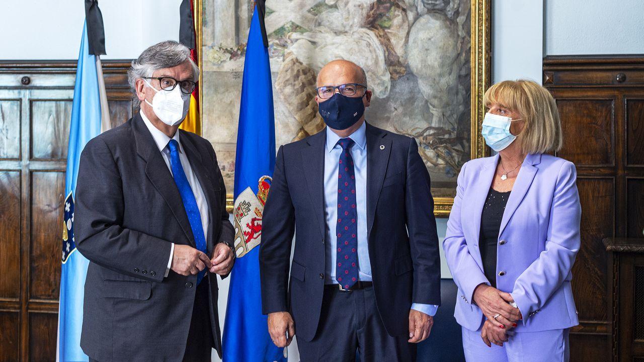 Marisol Nóvoa, presidenta de la CEO, y José Manuel Baltar, presidenta de la Diputación de Ourense