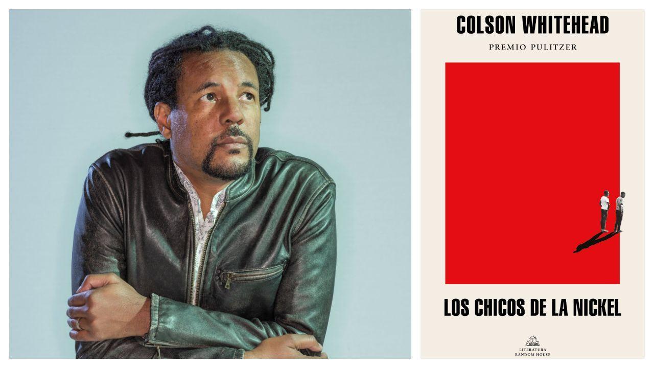 Retrato del narrador neoyorquino Colson Whitehead; a la derecha, portada de su nueva novela en la edición en español