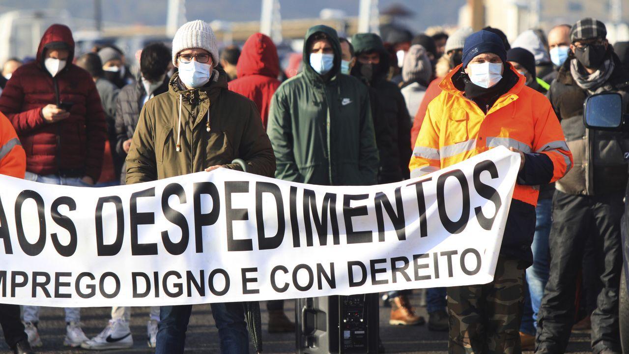 alcoa.Protesta de la plantilla gallega de Alu Iberica