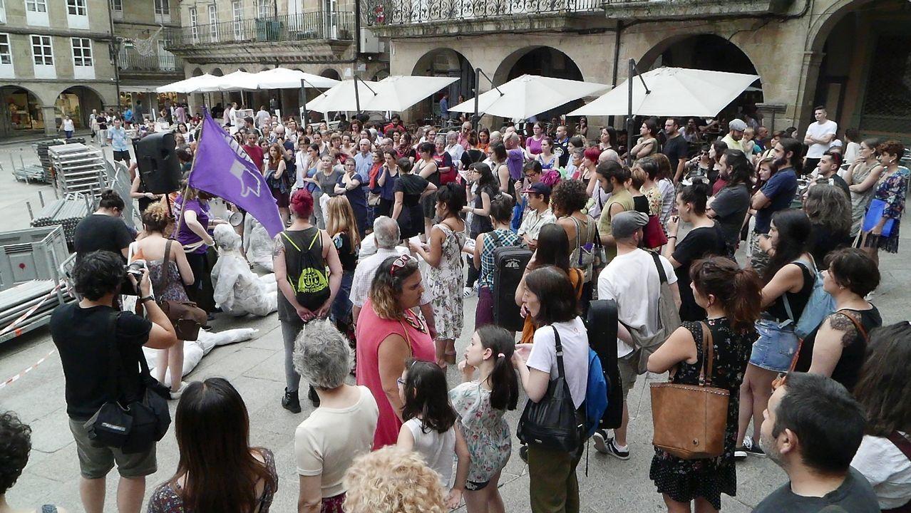 Concentración en Ourense contra la libertad provisional de La Manada