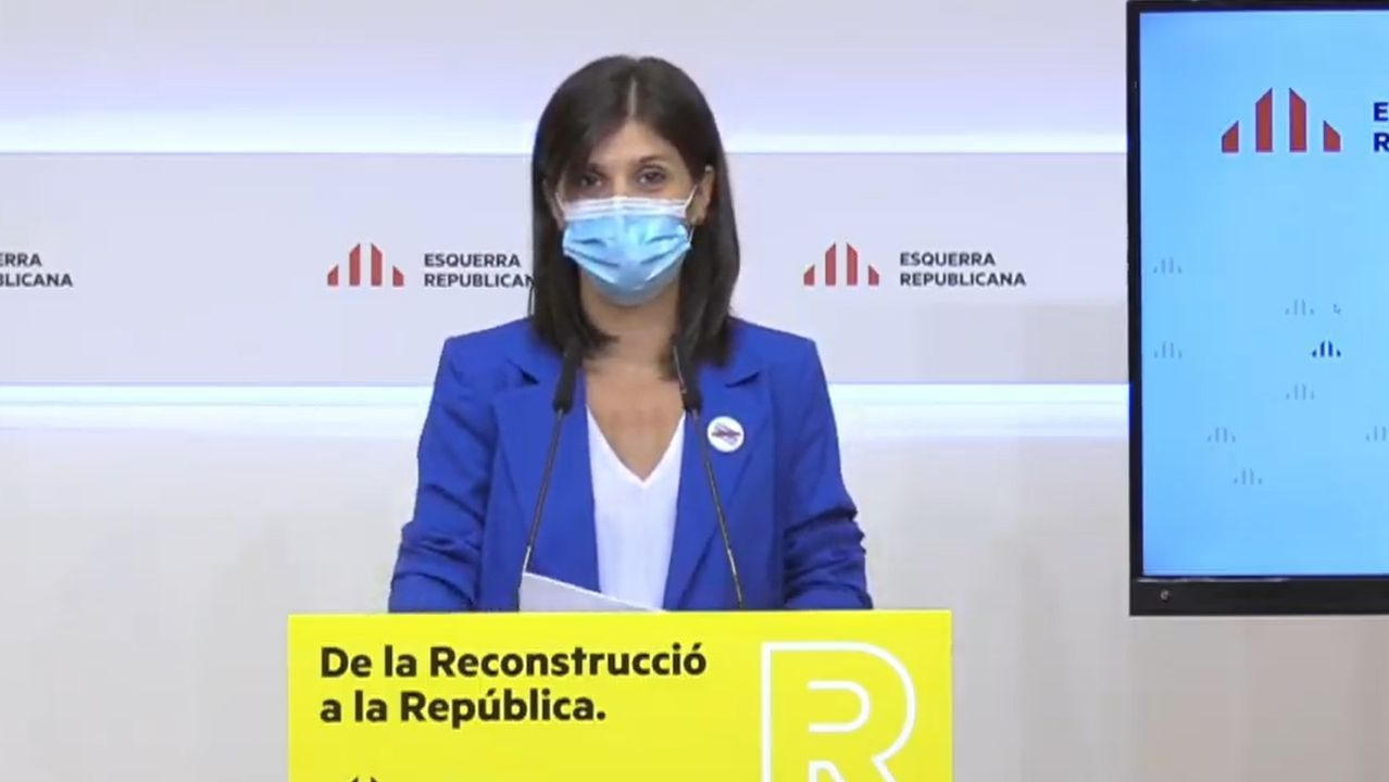 La secretaria general adjunta y portavoz de ERC, Marta Vilalta
