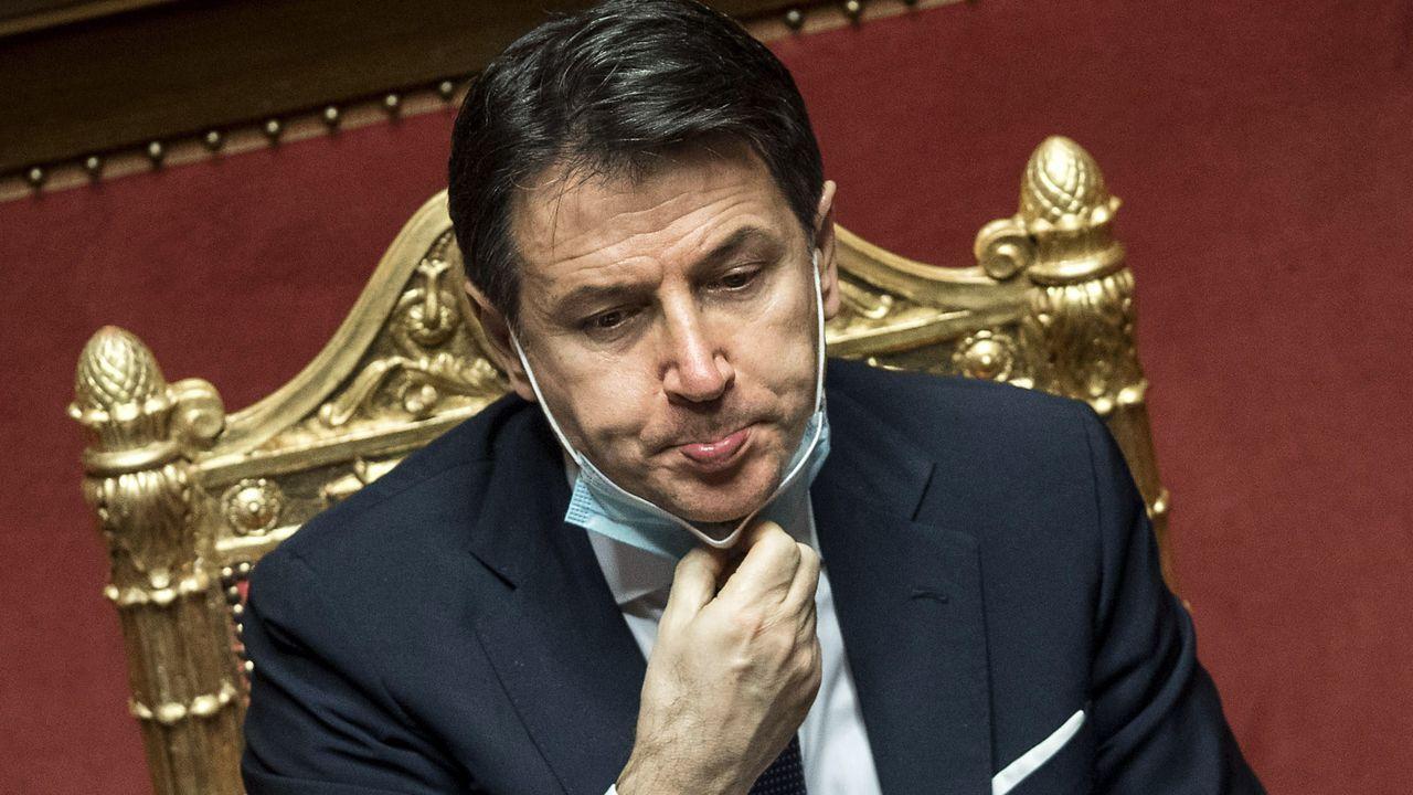 Giuseppe Conte, el martes en el Senado