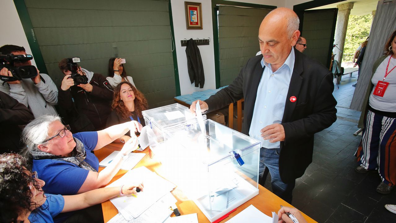 El candidato a la alcaldía de Pontevedra, Tino Fernández