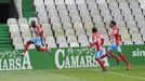 El Hacen celebrando el primer gol del Lugo en Santander