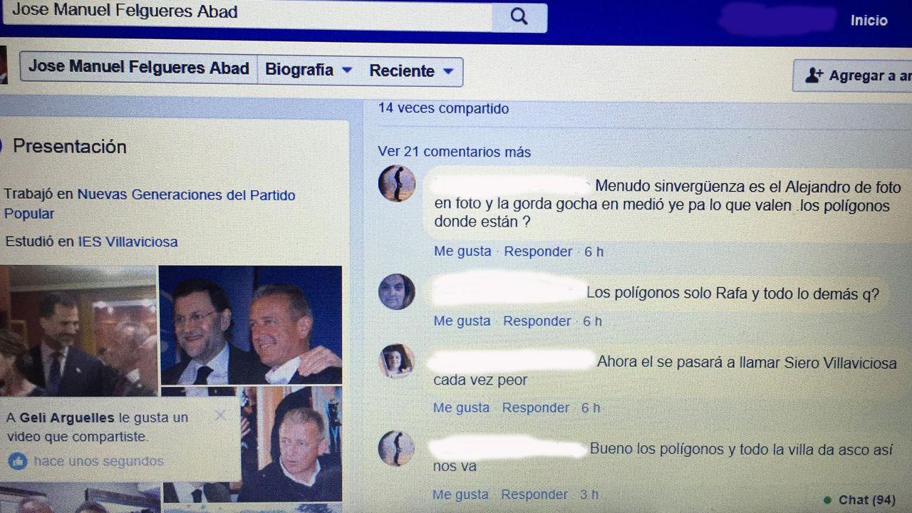 Avilés calla por las víctimas.El portavoz del PP de Villaviciosa tolera que en su Facebook se insulten a los políticos locales