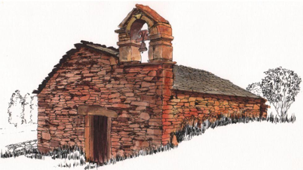 Capilla medieval en A Hermida, Monfero