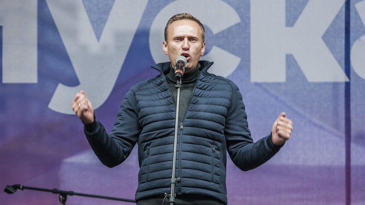 Foto de archivo del opositor ruso, Alexandr Navalni, en una manifestación en el 2019.