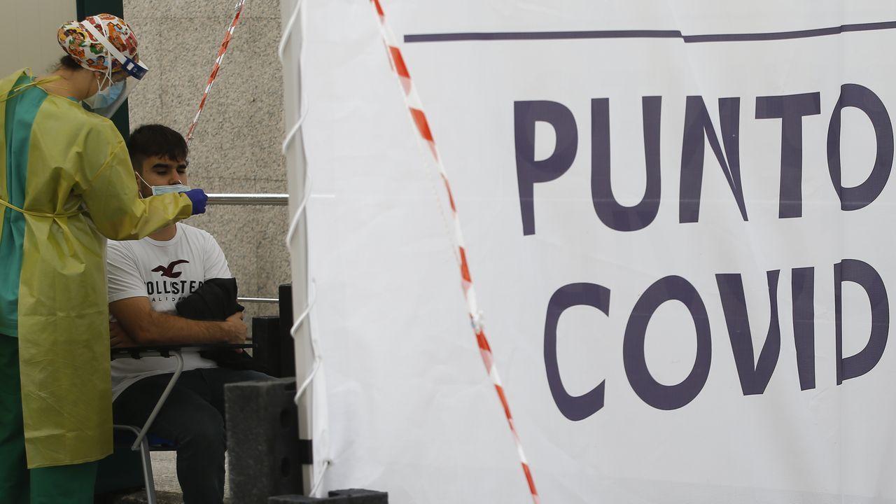 Pruebas dle covid en el barrio del Ventorrillo, en A Coruña