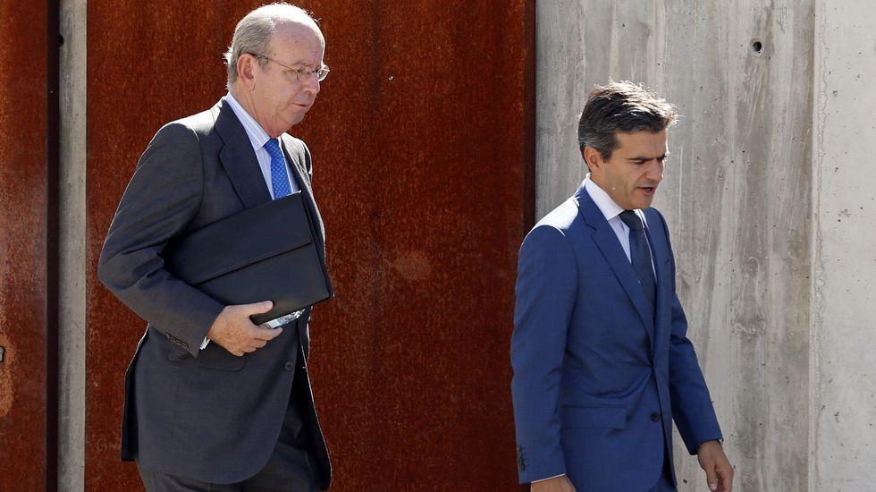 «Esto es casi como jugar al trivial», dice en el juicio de las tarjetas black.Rafael Sporttorno llegando esta mañana a la Audiencia Nacional