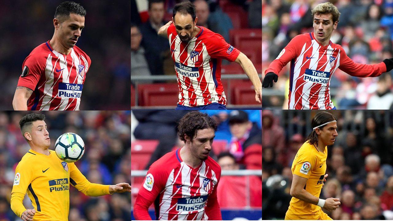 El debut del Deportivo en el Metropolitano, en imágenes.Bajas del Atlético ante el Dépor