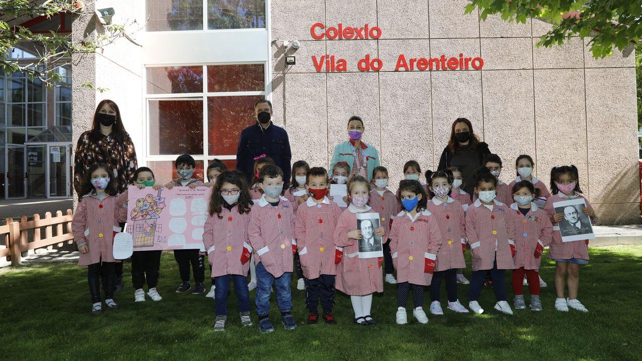 Visita de Darío Gil Arias ao colexio Fingoi, en Lugo.A Banda da Loba, nunha imaxe do 2020