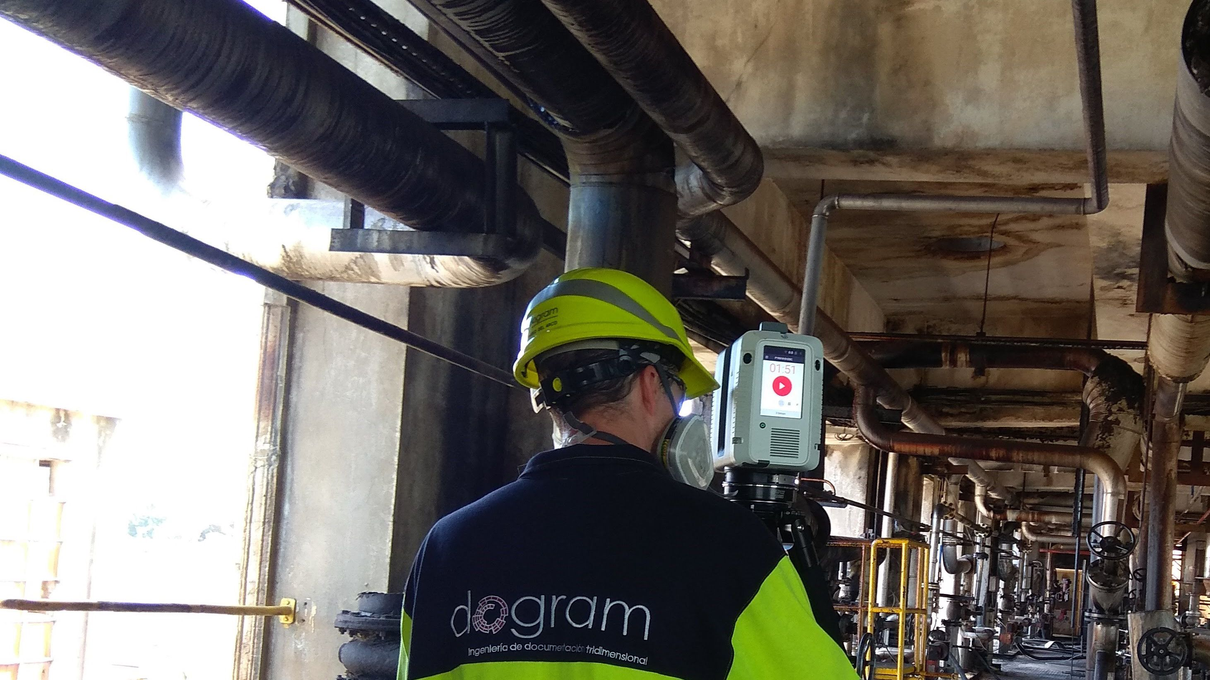 Realización de una digitalización 3D de una instalación industrial con escáner láser