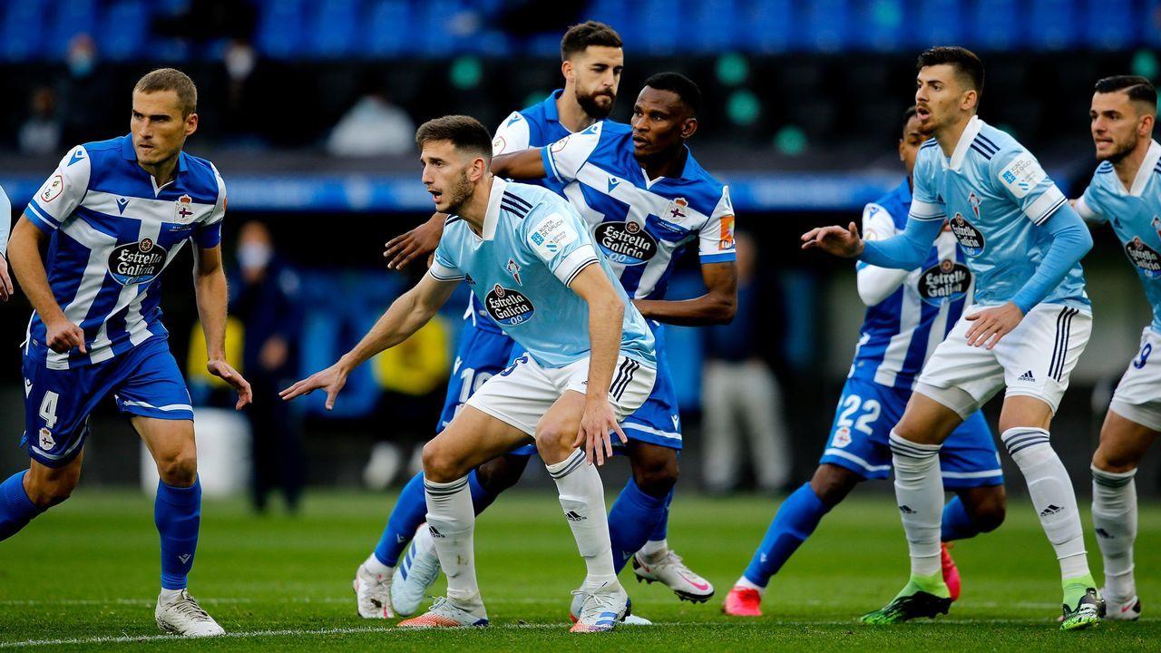 Imagen del Deportivo-Celta B de la pasada temporada en Riazor