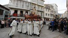 Procesión en el Domingo de Resurrección en Viveiro en el 2019