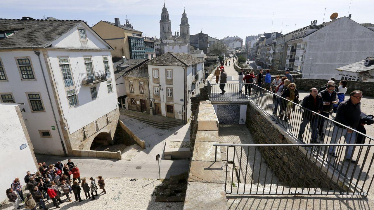 Las reformas en Porta Miñá y el entorno de Pío XII, sumados a que el Camino Primitivo es Patrimonio de la Humanidad desde el 2015, han incrementado los turistas a la Muralla y Lugo