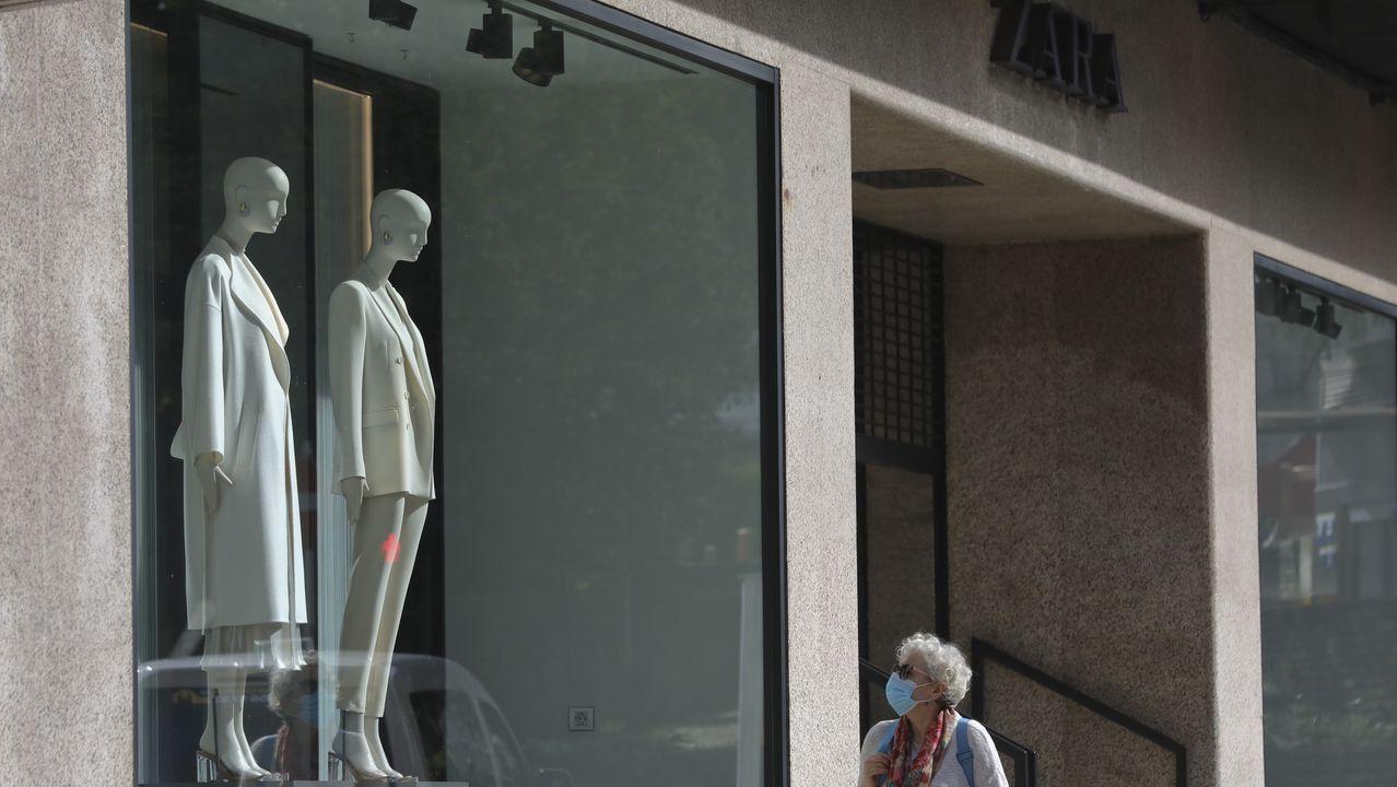 Escaparate de un Zara en Compostela