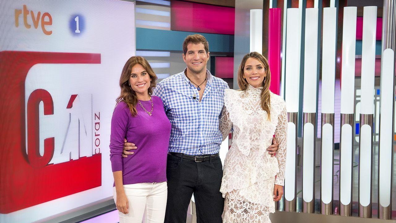 Lourdes Montes, Julián Contreras y Rosanna Zanetti