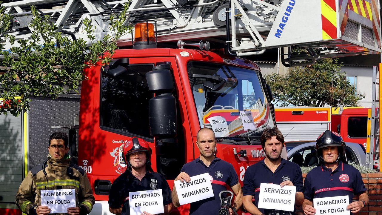 Imagen de archivo de los bomberos protestando