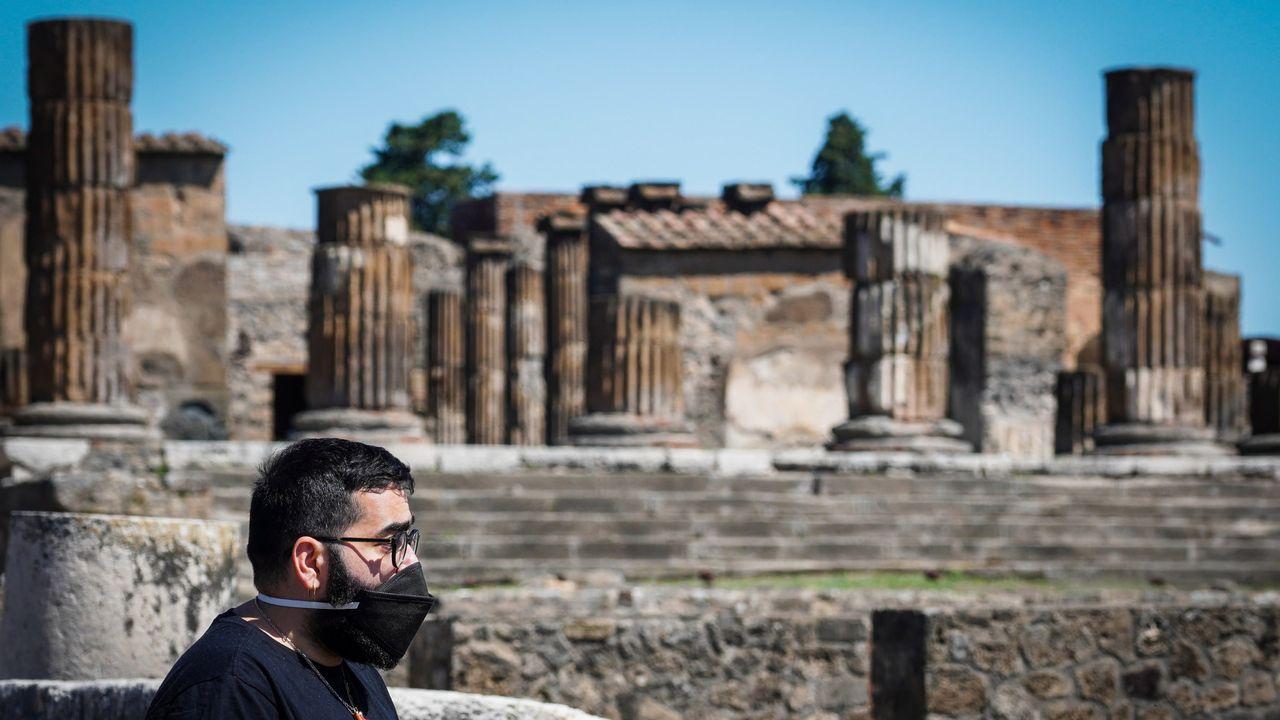 Las ruinas romanas de Pompeya iniciaron el lunes una primera fase de desescalada y a partir del día 14 relajarán las restricciones