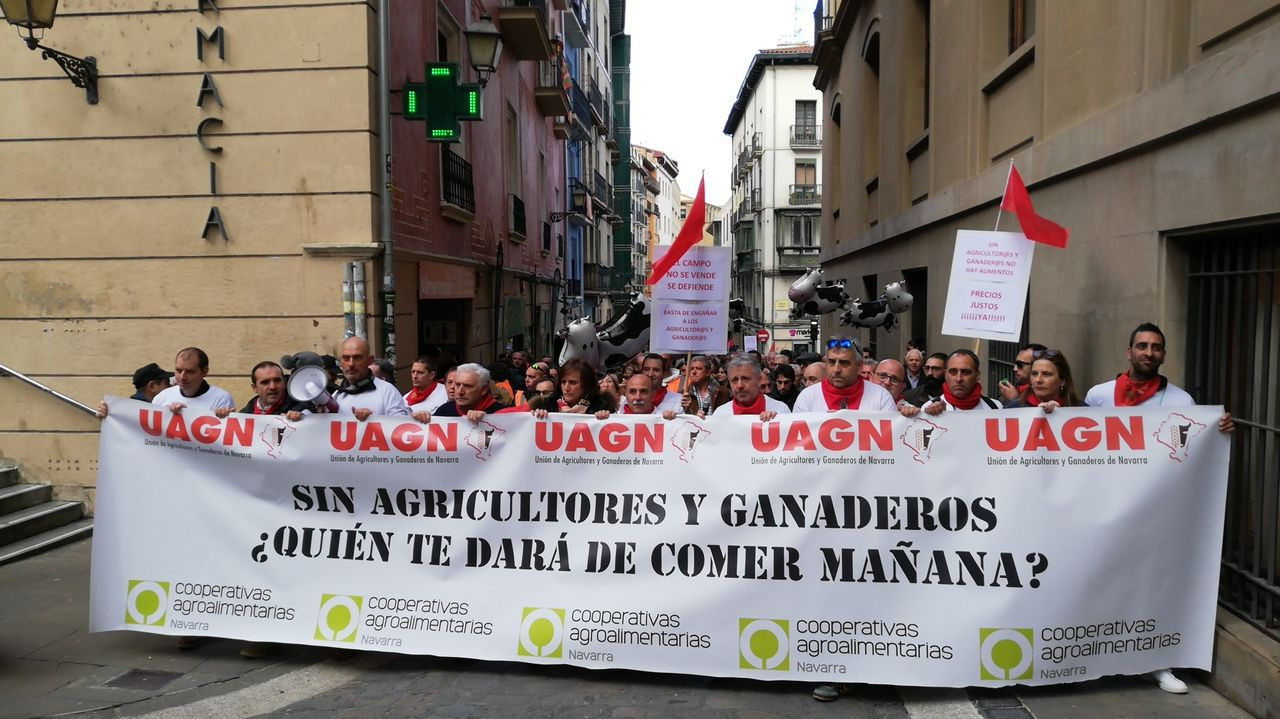 Estas son las últimas novedades de la Feria Agrícola de Zaragoza.Imagen de una de las manifestaciones de estos días en Pamplona
