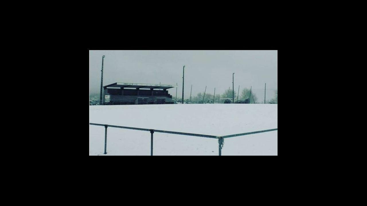 Imágenes de la nevada en el sur lucense.Esta mañana, en A Fonsagrada