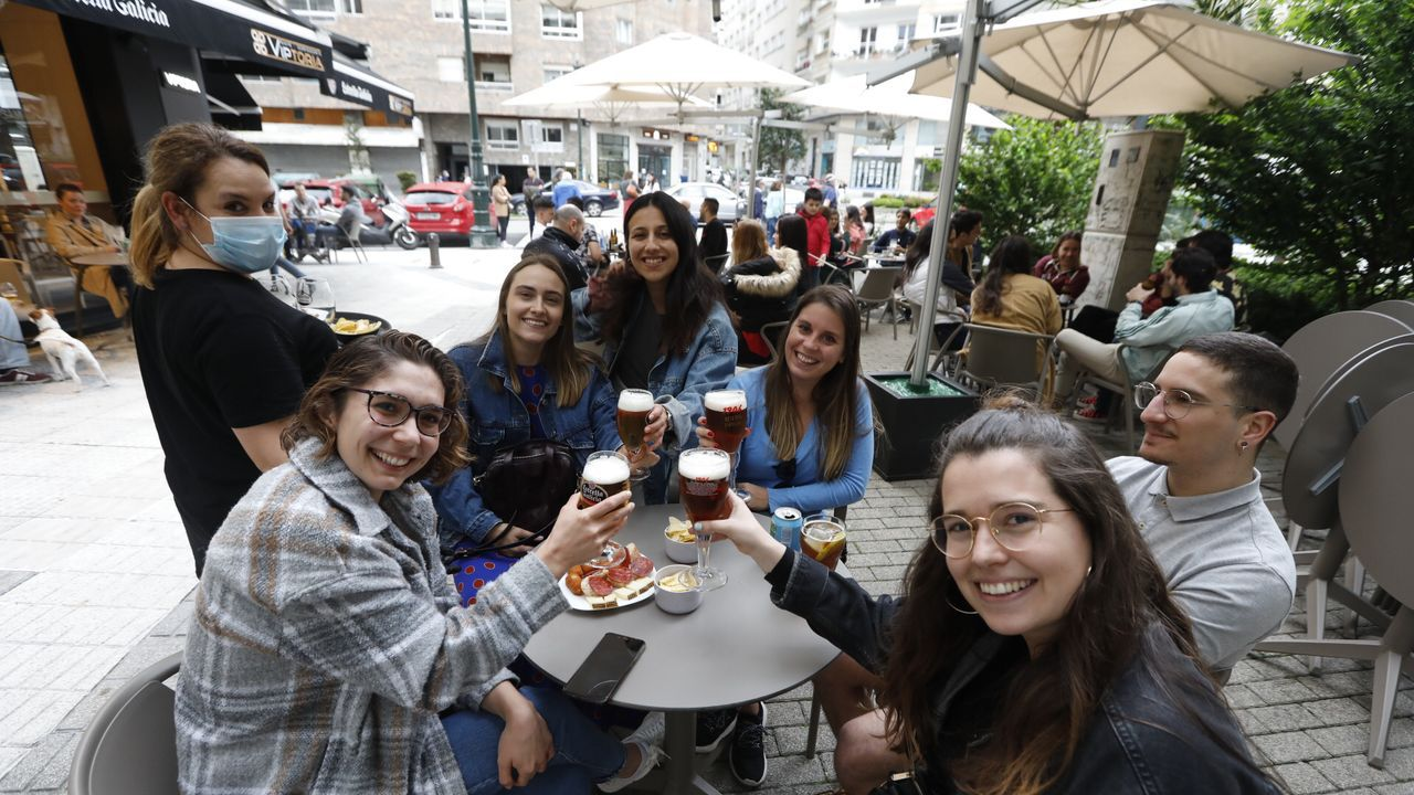 Las terrazas en Vigo también se animaron por la tarde