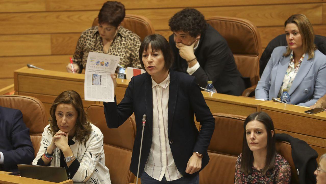 Ana Pontón durante el pleno