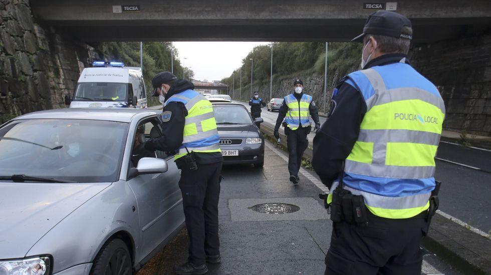 Control de la policía local de Oviedo