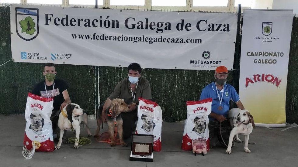 Rodeiro, Sestelo y Fontenla, en la entrega de premios en Santa Comba.