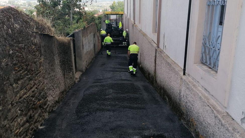 Las obras comenzaron este miércoles en las proximidades del colegio Torre de Lemos