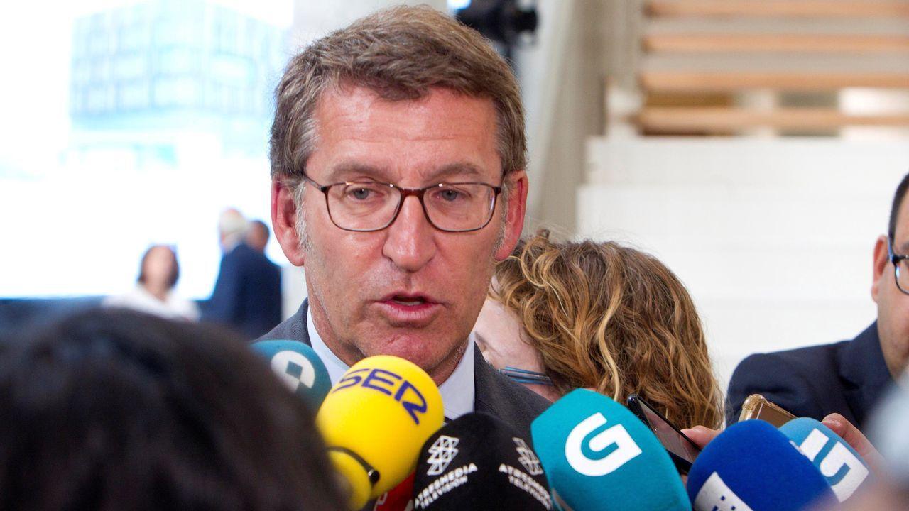 Feijoo sobre la imputación de Aguirre y Cifuentes: «No se han llevado un euro a su casa».Esperanza Aguirre dimitió de la presidencia del PP de Madrid el 14 de febrero del 2016 por «responsabilidad política», aunque, dijo, no tenía «ninguna responsabilidad material», ni podía «estar encausada en nada»