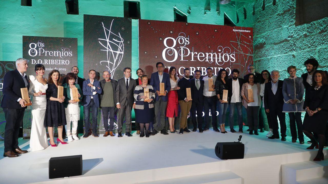 Gala de los premios de la Denominación de Orixe Ribeiro.Los agricultores vieron cómo se tratan los tomates en Horsal desde que llegan de la huerta