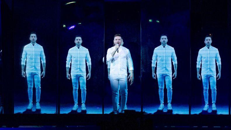 Los diez países clasificados de la segunda semifinal.El cantante ruso, Sergey Lazarev, durante un ensayo