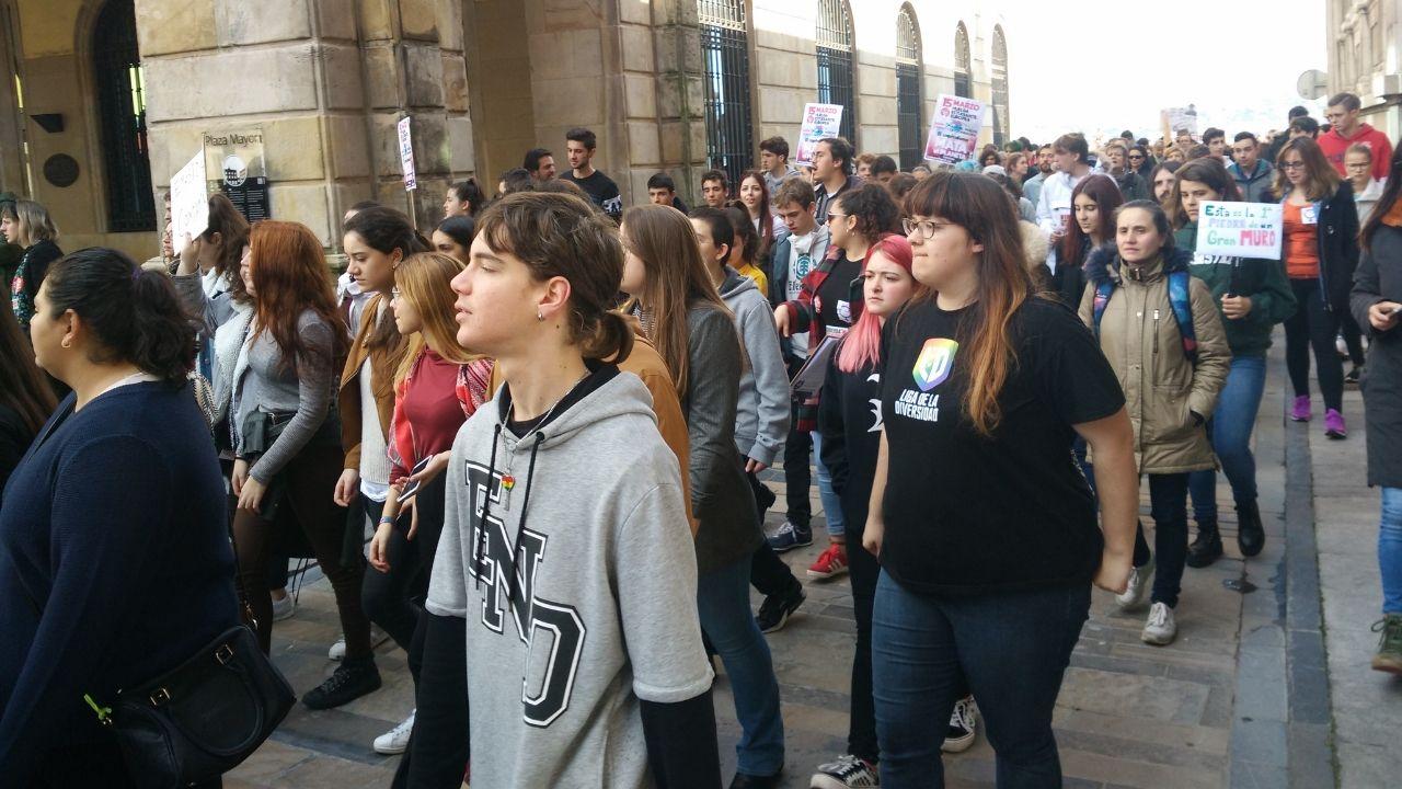Manifestación porel clima en Gijón.Manifestación por el clima en Gijón