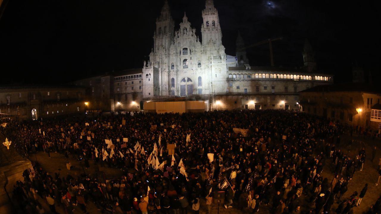 Las manifestaciones del 8M en Galicia, en imágenes