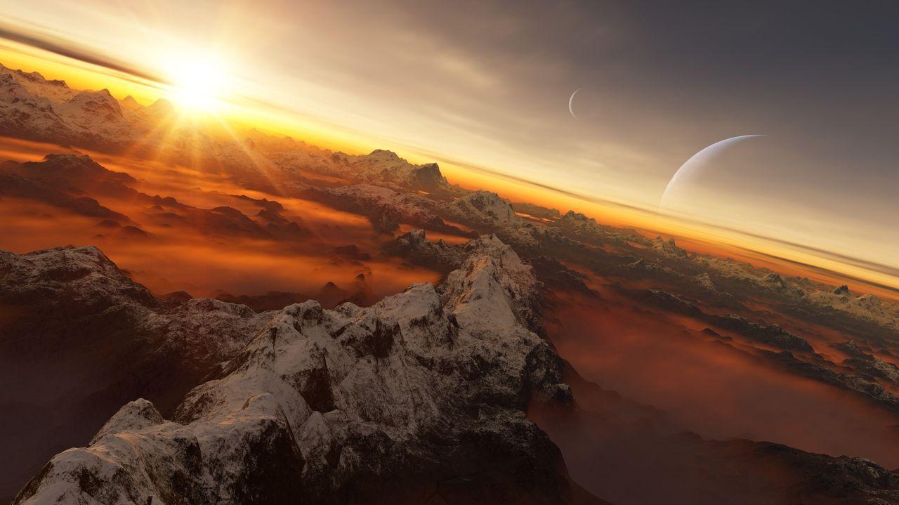 Recreación del exoplaneta Río Sar