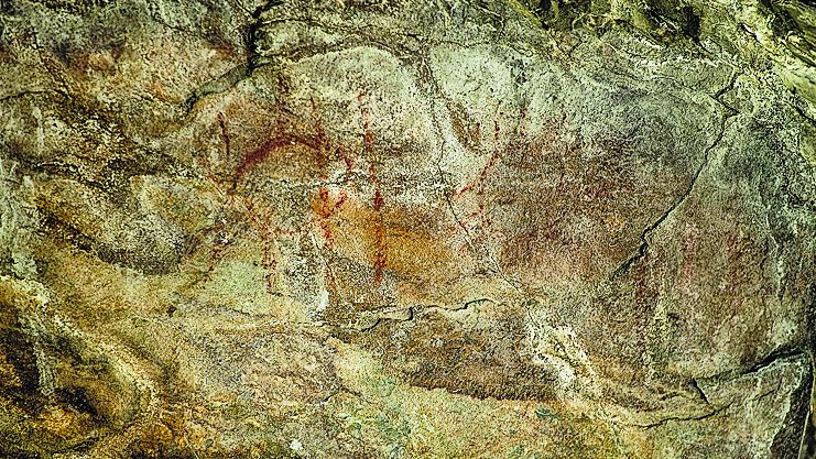 Imagen de una de las pinturas encontradas