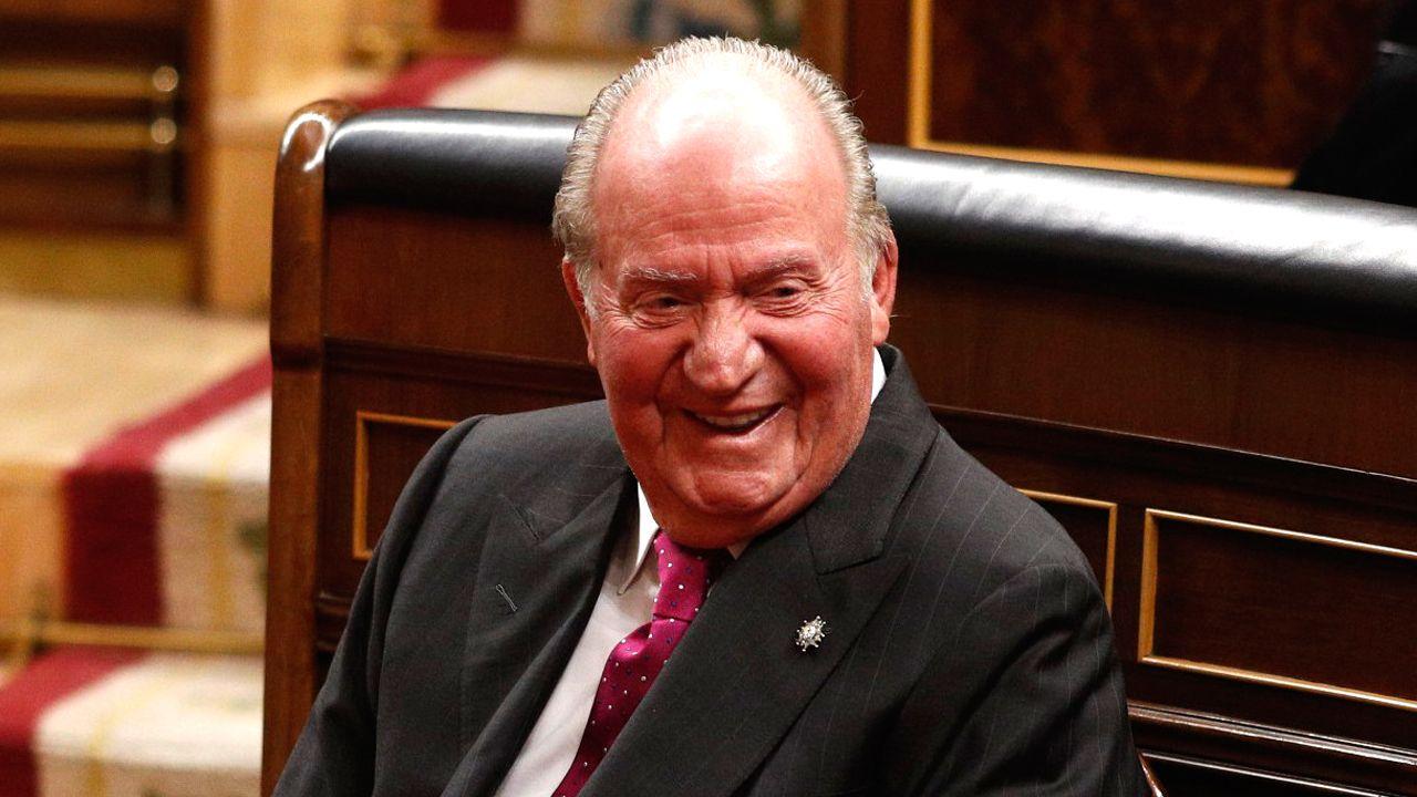 Juan Carlos I, en el Congreso el pasado mes de junio
