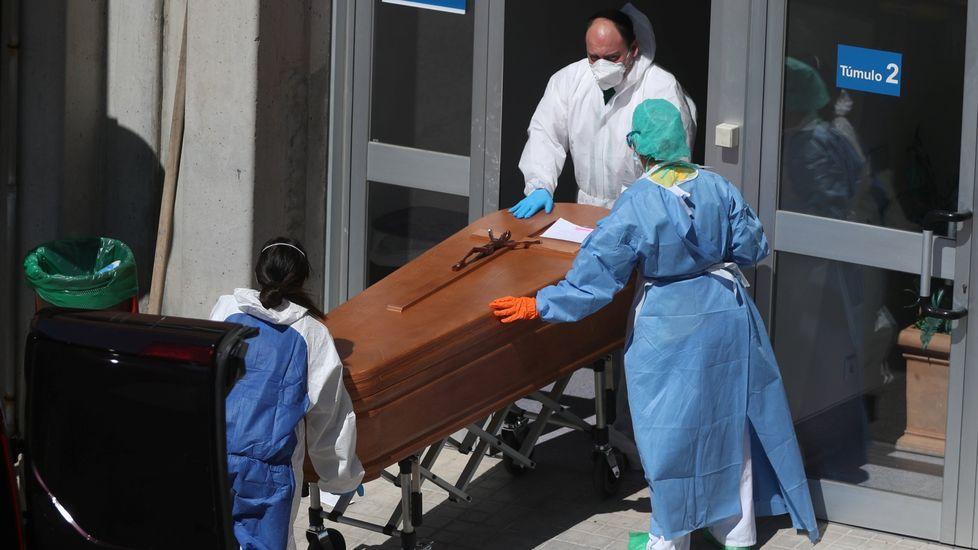 Entrada de la morgue del hospital Severo Ochoa de Madrid
