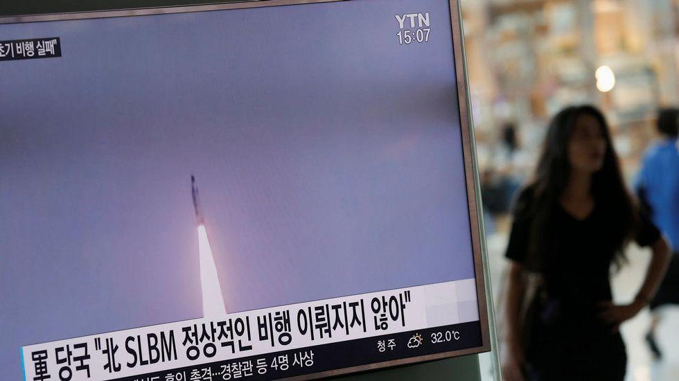 Corea del Norte provoca un terremoto de 5,3 grados.Una foto difundida por la agencia oficial de noticias de Corea del Norte