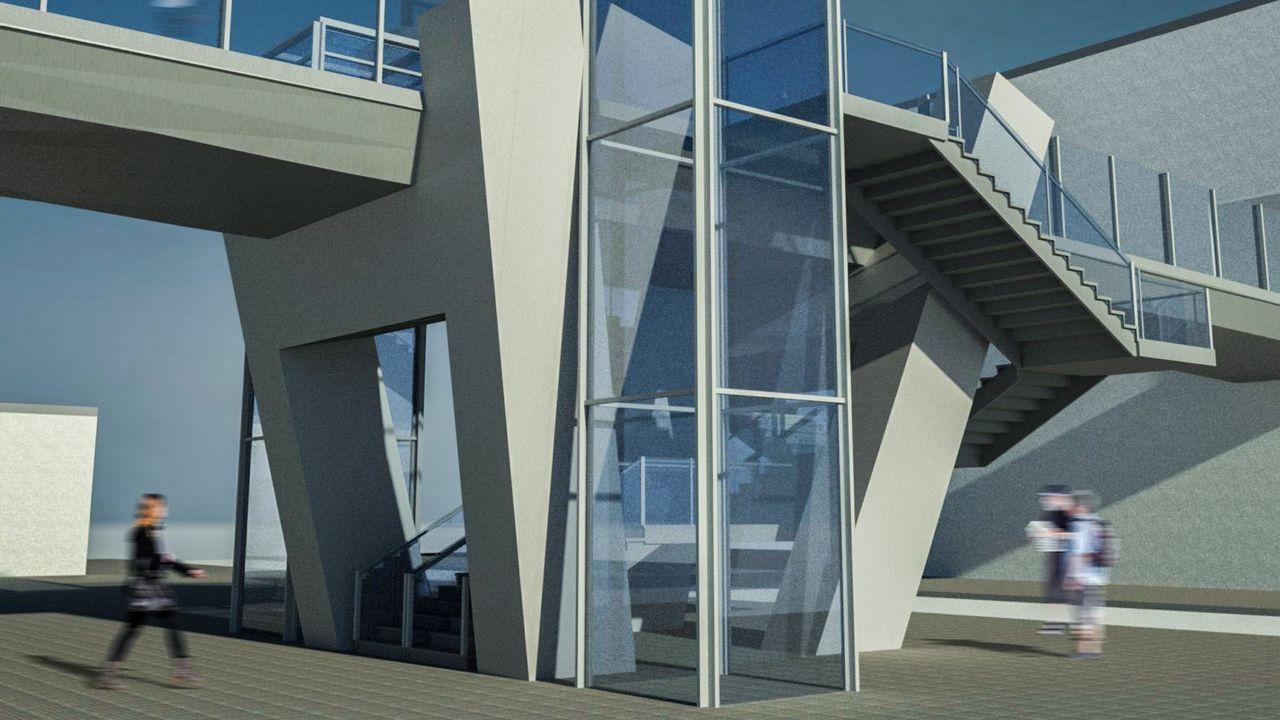 El concurso internacional exigía a los participantes el diseño de una pasarela elevada para conectar un centro comercial con un aparcamiento y, a la vez, permitir el acceso a una estación de metro y una carretera que discurrían por debajo de la estructura.