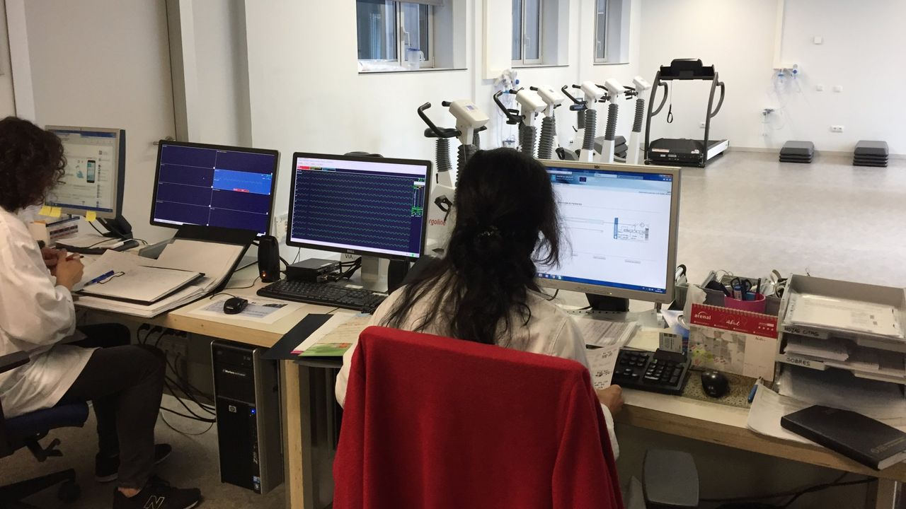 Unidad de rehabilitación cardíaca del hospital de Lugo