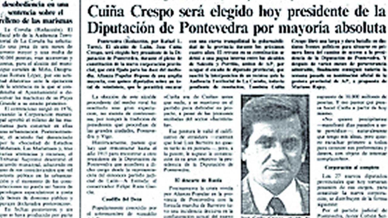 Página de La Voz de Galicia del 14 de agosto de 1987