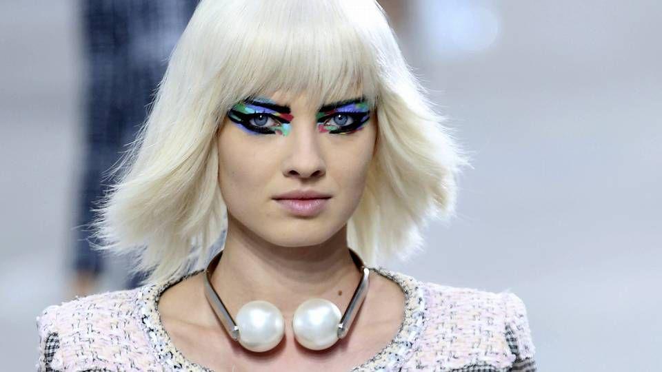 Chanel en la pasarela de París.La cantante Katy Perry