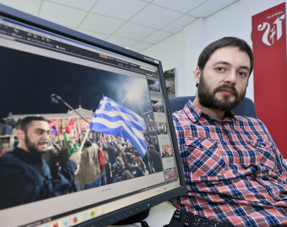 Castro fue el único fotógrafo gallego en las elecciones.