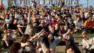 Jóvenes en un festival musical en Barcelona la pasada semana