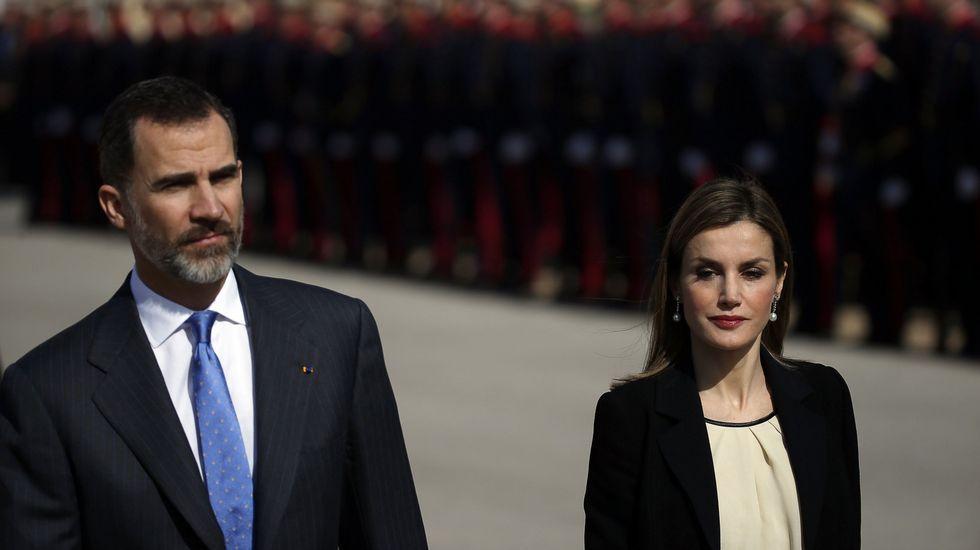 Los reyes de España, el pasado 24 de marzo, en su visita a París